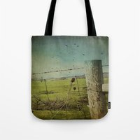 Wild West Fence  Tote Bag