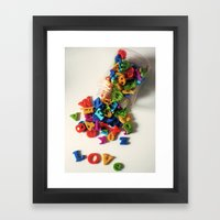 Love Letters Framed Art Print