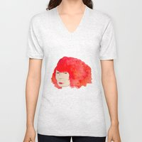 Fire Head Unisex V-Neck
