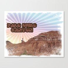 Retro Palo Duro Canyon Canvas Print