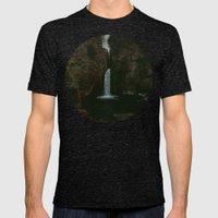 Wahclella Falls x Oregon Waterfall Mens Fitted Tee Tri-Black SMALL