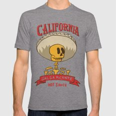 California Hot Sauce Mens Fitted Tee Tri-Grey SMALL