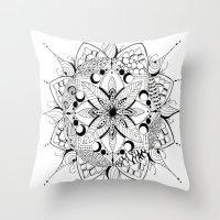 Mandala Art, India, Geom… Throw Pillow
