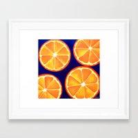 Orange Slice Painting Refreshing Vibrant POP ART Framed Art Print
