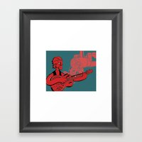 Folk Guitar Framed Art Print