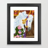 Carousel Horse - Najira Framed Art Print