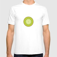 Kiwi Poster Mens Fitted Tee White SMALL