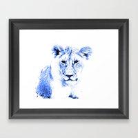 Rainbow Animals Lion Framed Art Print
