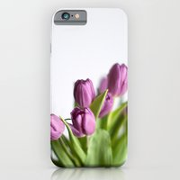 purple tulips iPhone 6 Slim Case