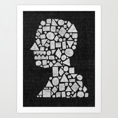 Untitled Silhouette in Reverse. Art Print