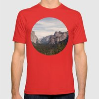Yosemite Valley Mens Fitted Tee Red SMALL
