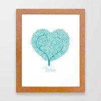 Love Growing Framed Art Print