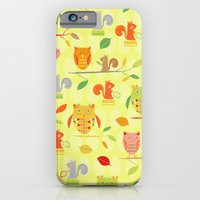Owls And Squirrels Print iPhone 6 Slim Case