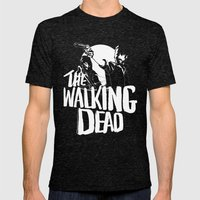 The Walking Dead Mens Fitted Tee Tri-Black SMALL