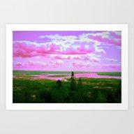 Art Print featuring Landscape Fantasy Colors by Lo Coco Agostino