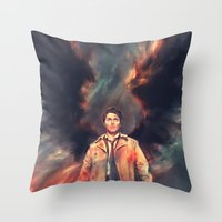 The Angel of the Lord Throw Pillow
