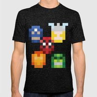 five heroes Mens Fitted Tee Tri-Black SMALL