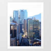 Glass Towers Art Print