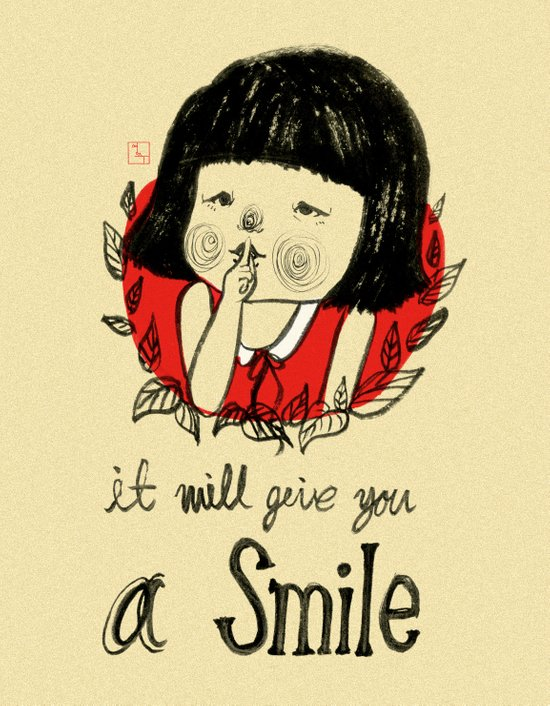 shiiii- you will smile :) Art Print