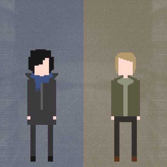 Sherlock 8-Bit Art Print
