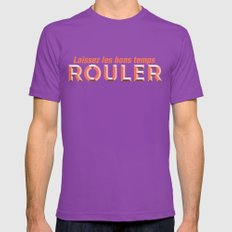 Laissez les bons temps rouler (Let the good times roll) Mens Fitted Tee Ultraviolet SMALL