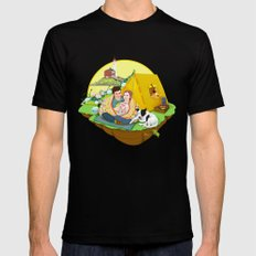 Custom Illustration for Emma and Edward SMALL Mens Fitted Tee Black