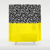 Memphis Black and Yellow 80s Shower Curtain