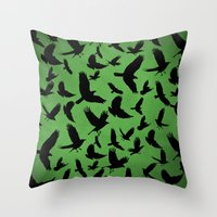 Morrigan's Murder Throw Pillow