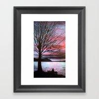 Boulevard Sunset Framed Art Print