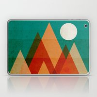 Full moon over Sahara desert Laptop & iPad Skin