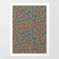 psychedelic Art Nouveau  Art Print