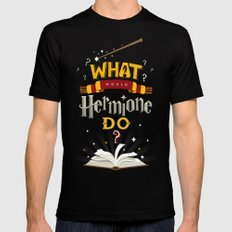 What Would Hermione Do? SMALL Mens Fitted Tee Black