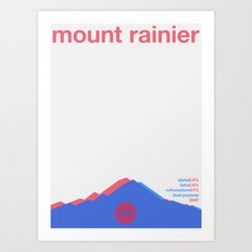 mount rainier single hop Art Print