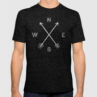 Compass Mens Fitted Tee Tri-Black SMALL