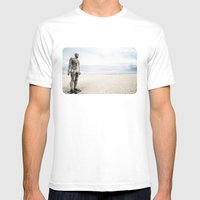 Crosby Beach Man  Mens Fitted Tee White SMALL