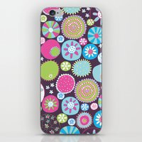 Doodle flowers2 iPhone & iPod Skin