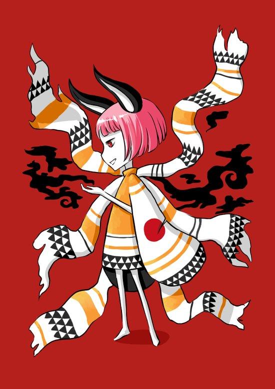Daemon Girl Art Print