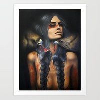 Running Eagle Art Print