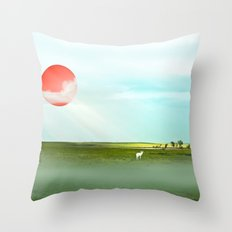 Blistering, Pondering, Wandering Throw Pillow