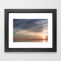 sunset in Grado Framed Art Print