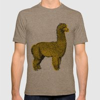 Huacaya Alpaca Mens Fitted Tee Tri-Coffee SMALL