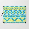 Aztec Pattern 2 Blue & Yellow Laptop Sleeve