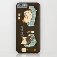 iPhone Cases featuring And He Just Did Not Have A Clue by Budi Kwan