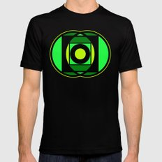 The Lantern's Glow Black Mens Fitted Tee SMALL