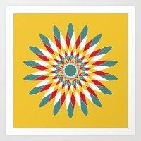Kaleidoscope Quilt 2 Art Print