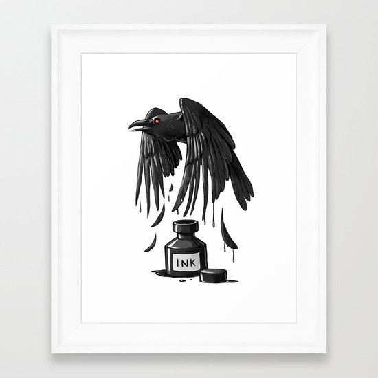 Ink Raven Framed Art Print