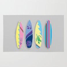 Four Surfboards Rug
