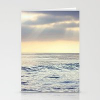 California Sunset over the Pacific Ocean Stationery Cards