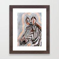 zeberahhhh! Framed Art Print