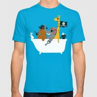 Everybody wants to be the pirate Mens Fitted Tee Teal SMALL